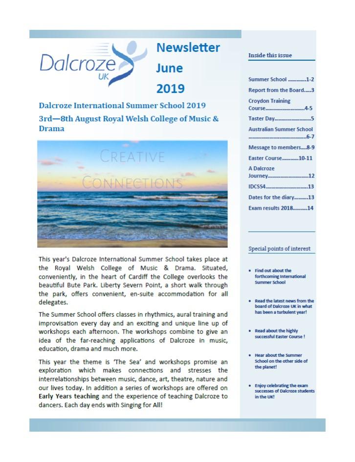 dalcroze member newsletter june 2019